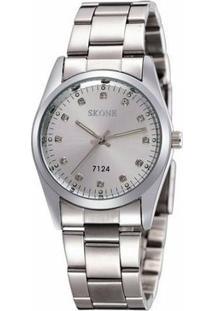Relógio Skone Analógico 7124 - Feminino-Prata