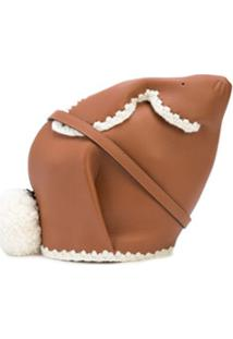 Loewe Bunny Crochet Bag - Marrom