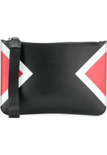 Neil Barrett Colourblock Zipped Pouch - Preto