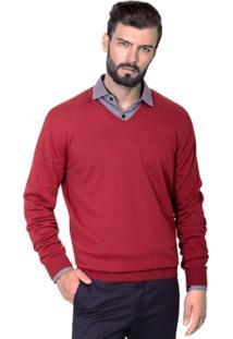 Suéter Katze Maquinetado Vermelho - Masculino