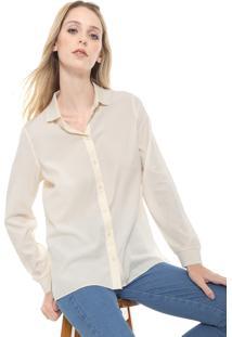 Camisa Lacoste Lisa Bege