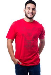Camiseta Fallen Owl Branco/Vermelho