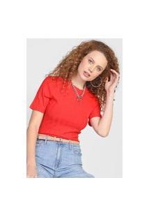 Blusa Colcci Canelada Vermelha