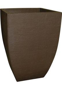 Vaso Moderno Quadrado Café - 30X30X45Cm - Japi