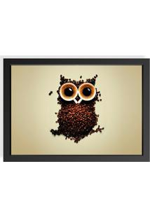 Quadro Love Decor Decorativo Com Moldura Owl Coffe