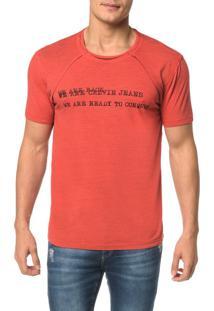 Camiseta Ckj Mc Dupla Face Logo Vazado - Pp