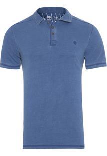 Camiseta Masculina Polo Taun - Azul