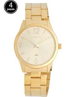 Relógio Lince Lrg4250Lk061C2Kx Dourado