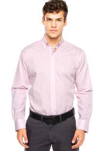 Camisa Aleatory Bordado Rosa