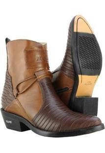 Bota Texana Hb Agabe Boots Masculina - Masculino-Café