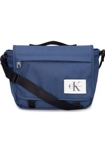 Bolsa Pasta Masculina Ckj Nylon Re Issue - Azul