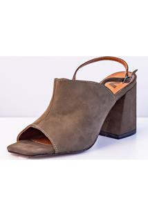Ankle Boot Salto Bloco Via Salto Army - Kanui