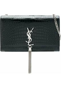 Saint Laurent Bolsa Shoulder Kate Monogram - Azul