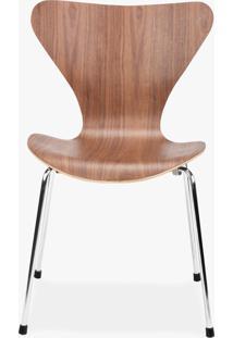 Cadeira Series 7 Jacobsen - Inox Madeira Marfim Opção De Madeira