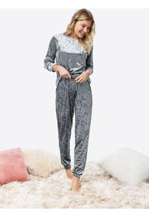 Pijama Longo Veludo Molhado Malwee Liberta