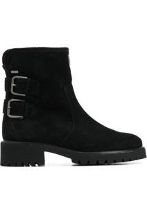Hogl Ankle Boot Com Detalhe De Fivela - Preto