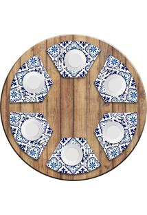 Jogo Americano Love Decor Para Mesa Redonda Wevans Blue Kit Com 6 Pçs - Kanui