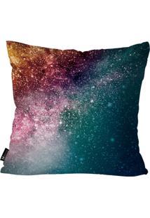 Capa Para Almofadas Mdecore Galaxia 45X45Cm Multicolorido