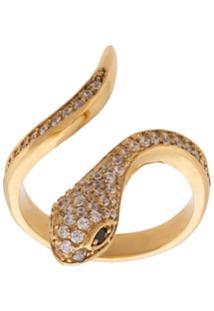 Nialaya Jewelry Anel 'Skyfall Snake' Banhado A Ouro 18K - Metálico