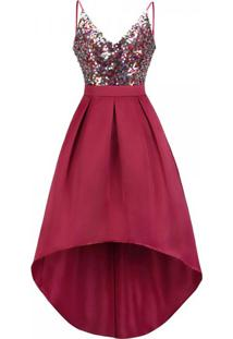 Vestido Mullet Gracious - Vermelho