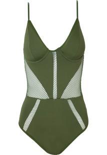 Body Rosa Chá Snips Underwear Verde Feminino (Capulet Olive, Gg)