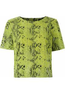 Eva Blusa De Couro Com Textura - Verde