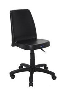 Cadeira Com Rodízio Vanda Preta - Tramontina