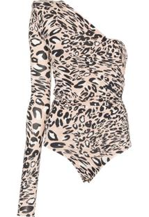 Alexandre Vauthier Body Animal Print Assimétrico - Neutro