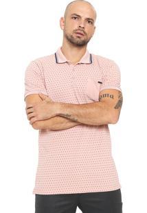 Camisa Polo Forum Reta Poás Rosa