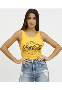 "Body ""The Original Coca-Colaâ®""- Amarelo & Preto- Coccoca-Cola"