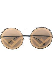 a6c3f428573fc ... Fendi Eyewear Óculos De Sol  Run Away  - Marrom