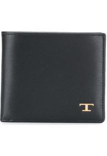 Tod'S Carteira Dobrável Com Placa De Logo - Preto