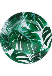 Kit 4Sousplat Plástico Folhas Verde 33Cm Royal
