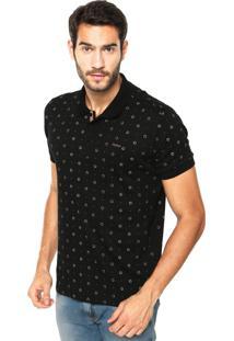 Camisa Polo Sommer Mini Ferradura Preta