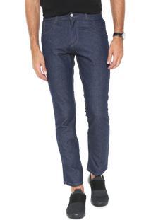 Calça Jeans Rock Blue Reta Five Pockets Azul