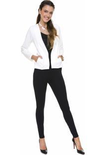 Blazer Coleteria Off White - Off-White - Feminino - Viscose - Dafiti