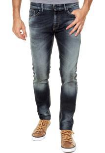 Calça Jeans Benetton Skinny Azul