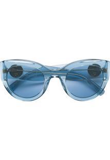 Versace Eyewear Óculos De Sol 'Tribute' - Azul
