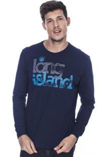 Camiseta Manga Longa Long Island Ap Masculina - Masculino