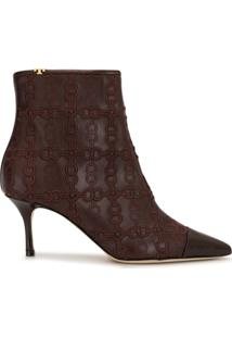 Tory Burch Ankle Boot Penelope - Roxo