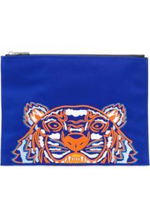 Kenzo Bolsa Carteiro Com Estampa - Azul