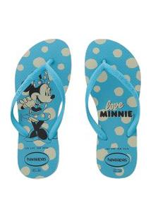 Chinelo Havaianas Disney Love Minnie Azul