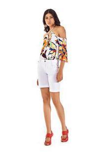 Bermuda Slim Tinturada Branco