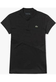 Camisa Polo Lacoste Sport Feminina - Feminino-Preto+Branco