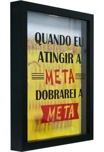 Quadro Porta Tampinhas Meta Preto 22X27Cm