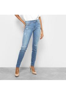 Calça Jeans Skinny Colcci Fátima Cintura Média Feminina - Feminino-Jeans