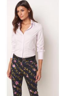Camisa Le Lis Blanc Priscila Rosa Feminina (Rosa, 42)