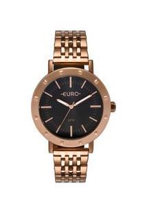Relógio Euro Feminino Spike Fever Casual Rosé Eu2035Ypf/4C Eu2035Ypf/4C