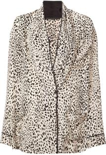 Haider Ackermann Blazer De Seda Animal Print - Neutro