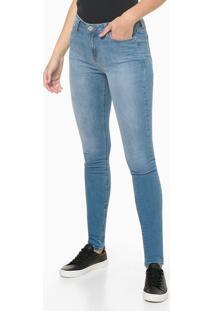Calça Jeans Feminina Five Pockets Super Skinny Escovada Cintura Média Azul Claro Calvin Klein - 34